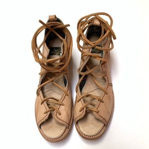 Freebird by Steven 9 Peace Leather Lace Up Sandals